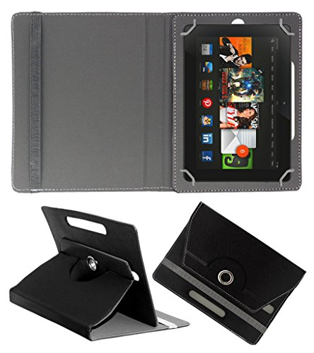 Acm Rotating 360° Leather Flip Case For Amazon Kindle Fire Hdx 8.9 Tablet Cover Stand Black  available at amazon for Rs.179