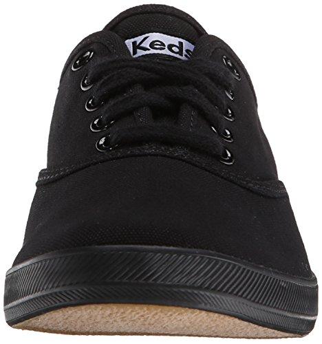 Keds Champion Canvas, Baskets mode Homme Noir/Noir (Black/Black)