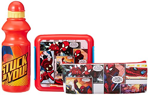 Marvel Spider Man back to School stationery combo set, 499, Multicolor