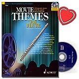 Movie Themes for Flute - 12 unvergessliche Melodien aus den größten Filmen aller Zeiten - Flöte Noten mit CD und mit herzförmiger Notenklammer