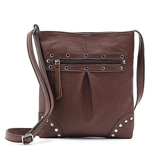 Frauen Handtasche - Allyou PU Leder Umhängetaschen Messenger Tragetasche für Frauen Ladies(Yellow) (Schulter Unterschrift Drucken Tasche)