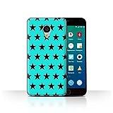 Stuff4 Phone Case for Meizu MX4 Pro Stars Pattern Turquoise