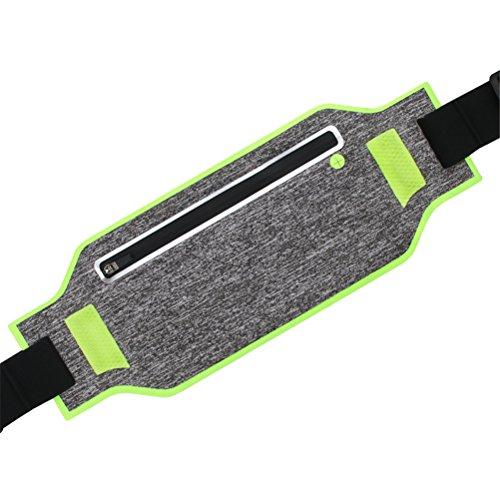 Laufband Unisex Fitness Travel Workout Wasserdichte Hüfttasche Für Alle Größen Arten Von Handys,Green