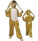 Hasen-Kostüm Kinder-Kostüm Hasen-Overall Häschen-Kostüm Osterhase Overall Ganzkörperanzug Jungen-Kostüm Mädchen-Kostüm Plüsch (Gr. 104)