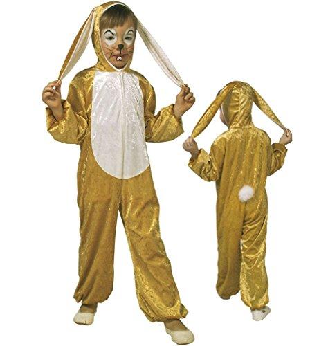 Hasen-Kostüm Kinder-Kostüm Hasen-Overall Häschen-Kostüm Osterhase Overall Ganzkörperanzug Jungen-Kostüm Mädchen-Kostüm Plüsch (Gr. (Kostüm Overall Mit Bauern)