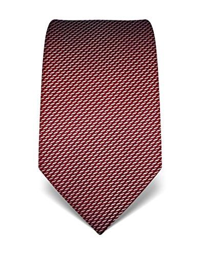 Vincenzo Boretti Herren Krawatte reine Seide gemustert edel Männer-Design gebunden zum Hemd mit Anzug für Business Hochzeit 8 cm schmal/breit weinrot