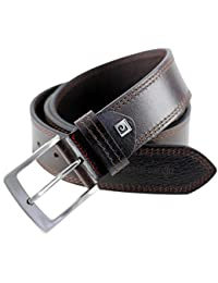Pierre Cardin Mens leather belt / Mens belt, full grain leather belt XL, black / brown, Größe / Size:100;Farbe / Color:marron