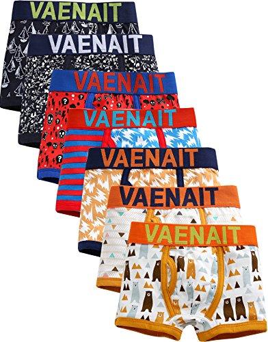 Vaenait baby Jungen 7 Pack Unterhosen mit Breitem Bund Briefs Boxer Daily Set 004 S