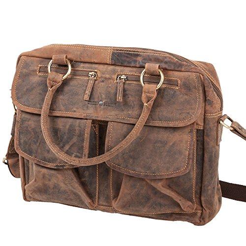 greenburry aktentasche Greenburry Vintage 1830-25 Leder Businesstasche   Handtasche   Handarbeit