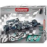 Carrera GO!!! - Silver Stars (Mercedes packaging, Mercedes-Benz F1 W05) 5.3 m, escala 1:43 (20062364)