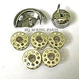 Nähmaschine Spulengehäuse, Spulenkapsel + 5Spulen für Singer, Brother, Toyota +