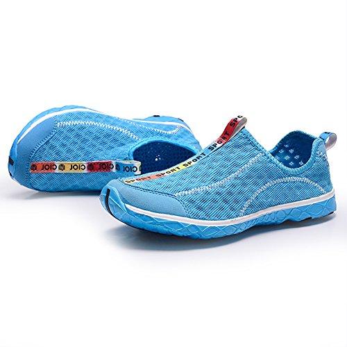 Le scarpe da acqua Uomo Donna asciugatura rapida Beach Scarpe Aqua Shoes Blue