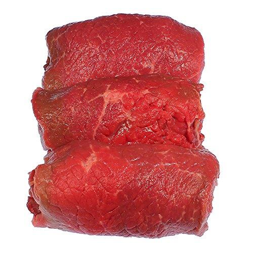Rinderrouladen vom Simmentaler Rind , fertig gefüllt mit Dörrfleisch, Zwiebeln, Gurke, Senf und...