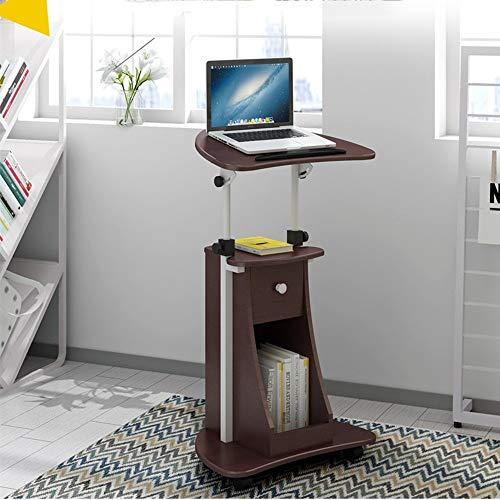 QQXX Computertisch Laptop-Tischwagen Steharbeitsplatz Computertisch Verstellbarer schwimmender Schreibtisch mit Ablage Notebook Nachttisch Frühstückstisch (Farbe: A)