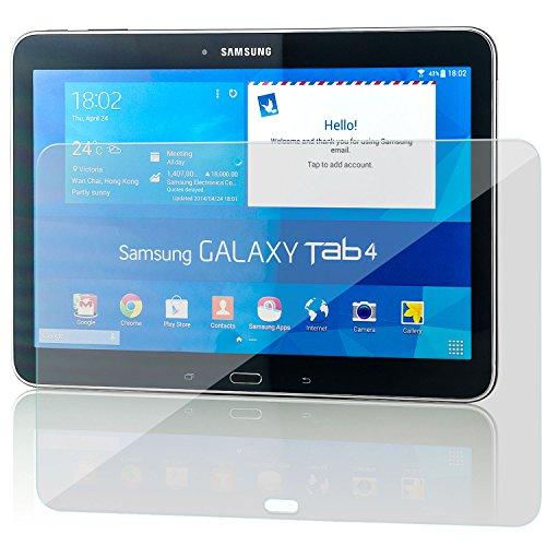 zanasta Bildschirmschutz Folie kompatibel mit Samsung Galaxy Tab 4 10.1 T530 Bildschirmschutzfolie aus gehärtetem Glas Schutzglas Glasfolie Schutzfolie   Klar Transparent