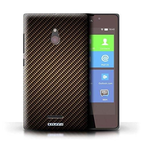 Kobalt® Imprimé Etui / Coque pour Nokia XL / Pourpre conception / Série Motif de Fibre de Carbone Or