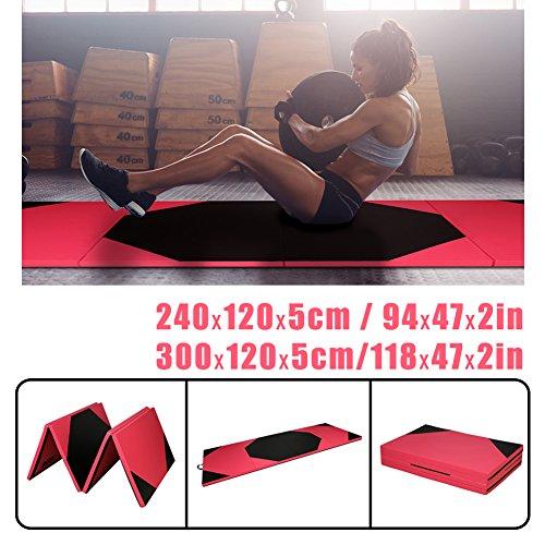 CCLIFE Tragbar Klappbar Gymnastikmatte Rose und Schwarz Weichbodenmatte Yogamatte Turnmatte...