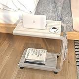 soges Portatile Tavolo Laptop Tavolo per Notebook PC con Piattaforma Divano Tavolo, Acero Bianco KH02-MP-M