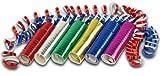 3 Rollen Luftschlangen metallic blau rot gold oder metallic grün pink silber - sortierte Liefeung