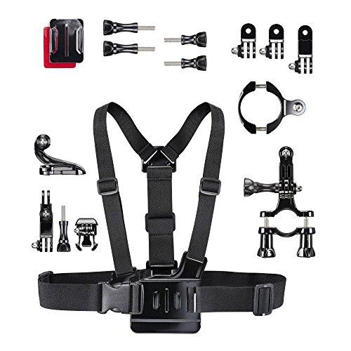 Mantona GoPro BMX und Scooter Set (inkl. Brustgurt/Helmbefestigungset/Fahrradbefestigung)