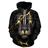 Bushiwo Sweatshirt Drucken Kapuzenjacke Männer 3D-Sweatshirt XL Pullover Roman Men's Hooded Top, S, 1.