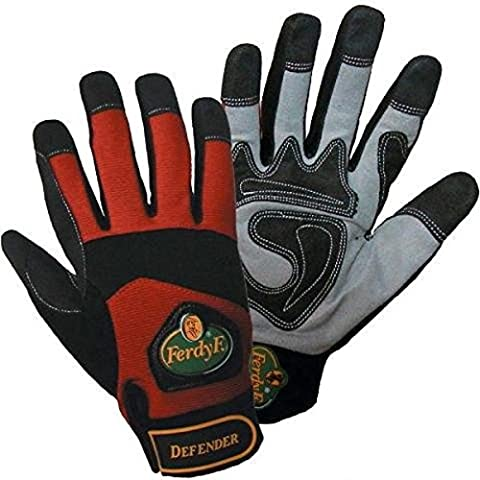 1 pair FerdyF Mechanics Gloves Power Red-Black, Color:Black-Red;Size:L (9)