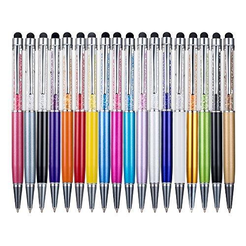18/Set Metallic Kristall Stift-Büro Schreibwaren Schulbedarf Pen Handschrift Kapazität Diamant Stift Touch Bildschirm Ball–Point Pen, Mix Farbe