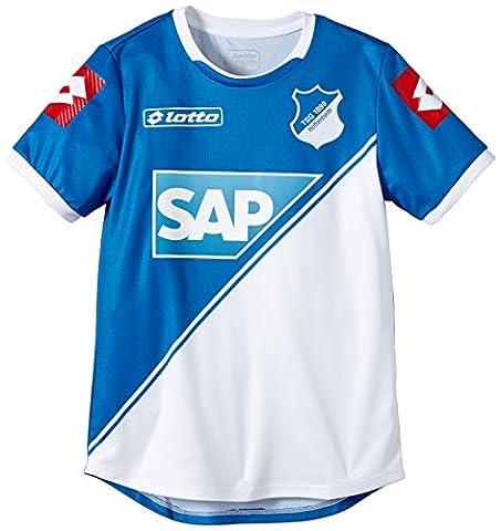 Lotto Sport Jungen Kurzarm-Shirt Jersey Home Hoff 14 JR, Blue293/White, XS 116-128, R5449