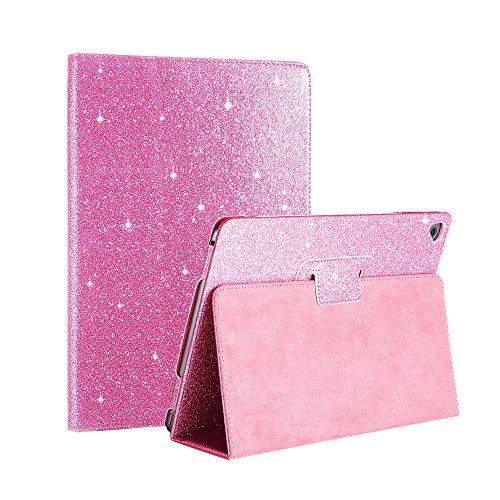 fansong iPad Schutzhülle, Sparkle Bling PU Leder Flip Smart Cover [Standfunktion] [Auto Sleep/Wake] Schutzhülle für Apple iPad