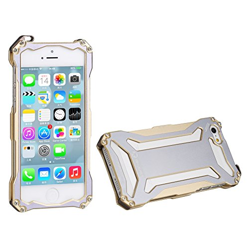 iPhone 5S Case,iPhone 5 Metal Case, Dropproof Shockproof Aluminum Back Bumper Case Cover for iPhone 5 iPhone 5S iPhone SE Gold gold