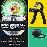 Gyro Power Ball - Gyroball con Luce a LED per Polso avambraccio Esercitatore Mani, Rinforzo Mani, Polsi e avambracci