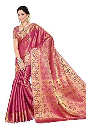 Mimosa Women'S Silk Saree With Blouse Piece (197-Sd-Pnk_Pink)