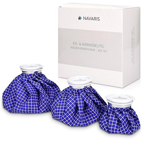 Navaris bolsas de hielo y calor - set 3 tamaños - alivio de lesiones