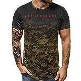 Lurcardo Camisetas Hombre, Camisetas Hombre Manga Corta Camuflaje Estampado de Moda Verano Camiseta para Hombre Camisetas Hombre Camisetas Hombre Originales Moda Camiseta de Hombre