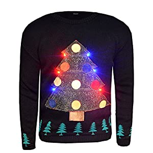 Fast-Fashion-Frauen-Jumper-Langen-rmeln-Weihnachtsbaum-Led-Licht-Xmas-Neuheit