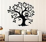 Large Vinyl Wall Decal Tree Owl Nursery Kids Room Child Stickers Mural (ig4335) Burgundy