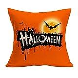 VEMOW Halloween Party Dekoration Kissenbezug Sofa Taille Mode Werfen Kissenbezug Home Decor(Gelb 6, 45cm*45cm)