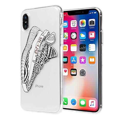 iPhone X/10Retro Sneakers Handy Fall-neuesten transparent strapazierfähiger Dope Hypebeast Silikon Schutzhülle/Grip/Skins/Halter mit Vivid Print Technologie, Yeezy Zebra Industrie-handy-fall