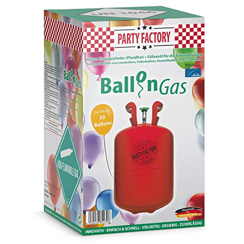 urg Ballongas Helium für 20 Luftballons ()