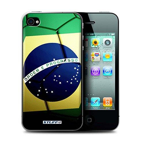 Coque de Stuff4 / Coque pour Apple iPhone 4/4S / Portugal Design / Nations de Football Collection Brésil/Brésilien