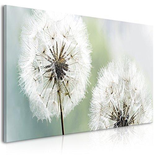 murando - Bilder Pusteblume 100x45 cm - Leinwandbilder - Fertig Aufgespannt - Vlies Leinwand - 1 Teilig - Wandbilder XXL - Kunstdrucke - Wandbild - Blumen Natur grau grün Pusteblumen b-B-0262-b-c