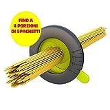 Dosificador de espaguetis medida hasta 4 porzioni. Medidor de la masa de espaguetis 4 colores surtidos