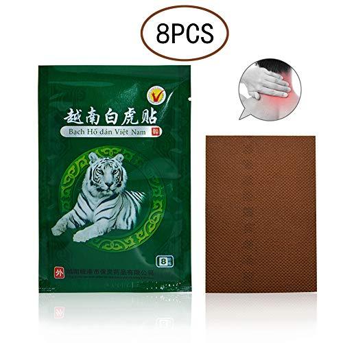 Xiton 8 PACKS Atmungsaktiv Schmerzlinderung Patch Weiß Tiger Balm Schmerzlinderung Putze NatüRlich Zutat RüCkenschmerzen Hals Karosserie Schmerzen AufnäHer