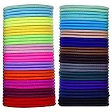 myBox 69pièces 3mm Multicolore élastique Elastiques Cheveux Cravate sans doux en métal Elastiques