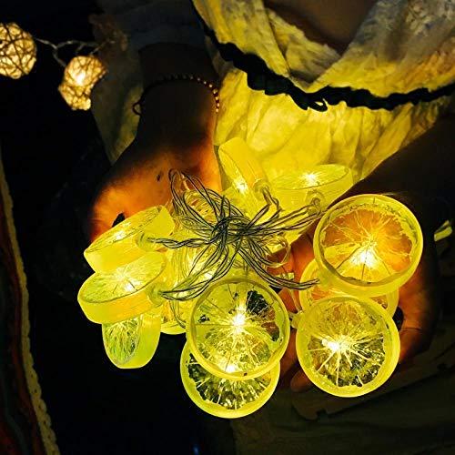 YUGOOS Luces de Adorno, Luces de Cadena, Cadena de rodaja de limón...
