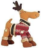 La Vogue Plüschtiere Plüschpuppe Kinder Weihnachtsgeschenke Elch Weiche Stoffpuppe 40x26cm Rot