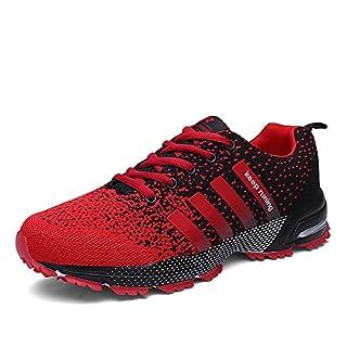 Laufschuhe Retwin Turnschuhe Straßenlaufschuhe Sneaker mit Snake Optik Damen Herren Sportschuhe Rot 38