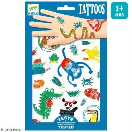 Abzieh-Tattoos Wilde Tiere