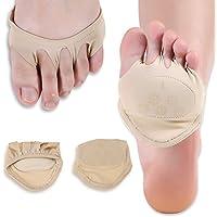 Fünf Zehe Heeless Vorfuß Pads, 1 Paar Anti-Slip Halb Fingerlose Socken Vorfuß Schmerzlinderung Unterstützt für... preisvergleich bei billige-tabletten.eu