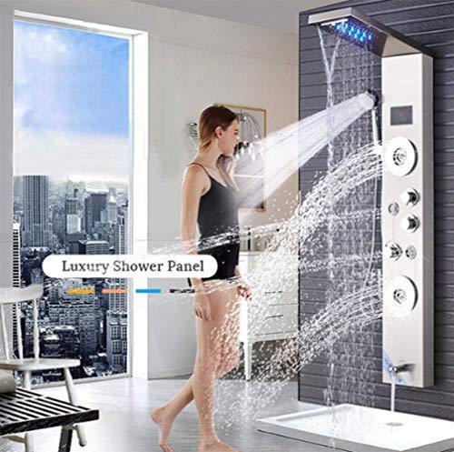 GJR-HS 5 Funktionskeitung montierte LED-Regenduschlatte für Bad Thermostatic Concealed Dusche mit 4 Jet-Sprayer